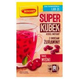 Super kisiel smak wiśni z owocami żurawiny