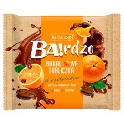 Ba!rdzo Bakaliowa tabliczka w czekoladzie daktyle pomarańcze kawa