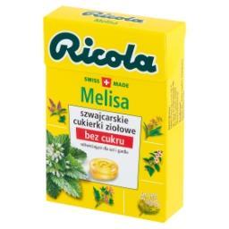 Szwajcarskie cukierki ziołowe melisa