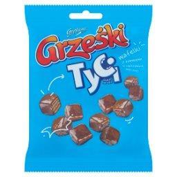 Tyci Mini wafelki z kremem o smaku kakaowym w czekoladzie mlecznej