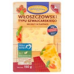 Włoszczowski typu szwajcarskiego ser żółty w plastrach