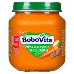 Zupka warzywna z cielęcinką po 5 miesiącu