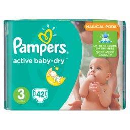 Active Baby-Dry rozmiar 3 (Midi), 42 pieluszki