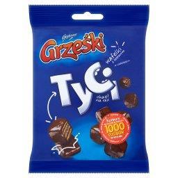 Tyci Mini wafelki z kremem o smaku kakaowym w czekoladzie