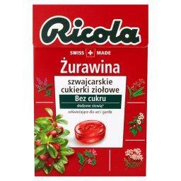 Żurawina szwajcarskie cukierki ziołowe