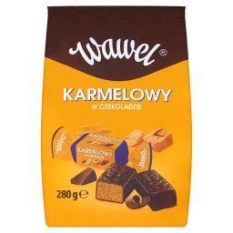 Karmelowy Cukierki z czekoladą mleczną i alkoholem