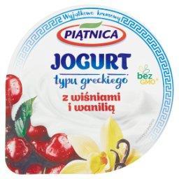 Jogurt typu greckiego z wiśniami i wanilią