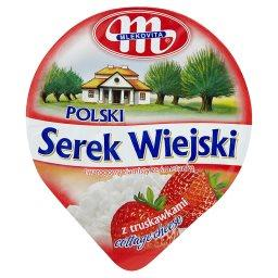 Polski Wiejski serek z truskawkami