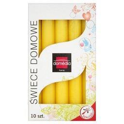 Świece domowe żółte 20 mm/170 mm czas palenia 6 h 10 sztuk
