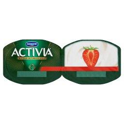 Activia Jogurt naturalny i truskawki 240 g (2 sztuki)