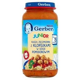 Junior Kasza jęczmienna z klopsikami w sosie pomidorowym po 15 miesiącu