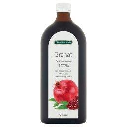 100% sok bezpośrednio wyciskany z owoców granatu