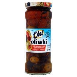 Oliwki mix z suszonymi pomidorami w oleju z ziołami