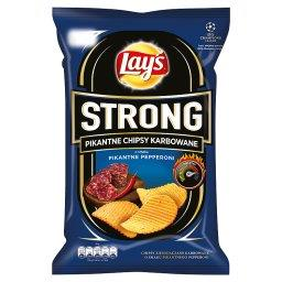 Strong Pikantne chipsy karbowane o smaku pikantne pepperoni