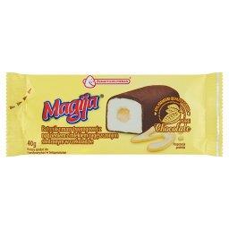 Batonik z masy twarogowej z nadzieniem z mlekiem zagęszczonym słodzonym w czekoladzie