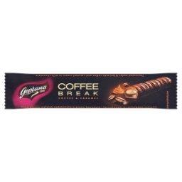 Coffee Break Wafelek nadziewany kremem kakaowym i karmelowym w czekoladzie