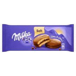 Choc&Choc Ciastka biszkoptowe przekładane nadzieniem kakaowym i kawałkami czekolady