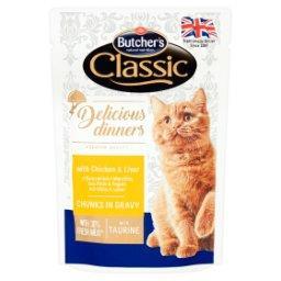 Classic Delicious Dinners Karma dla kotów kawałki w sosie z kurczakiem i wątróbką