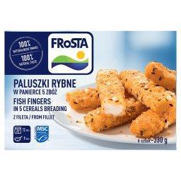 Paluszki rybne w panierce 5 zbóż z fileta  (6 sztuk)