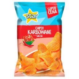 Chipsy karbowane o smaku salsa