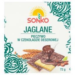 Pieczywo w czekoladzie deserowej jaglane