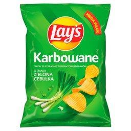 Chipsy ziemniaczane karbowane o smaku zielonej cebulki