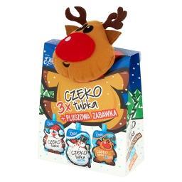Czekotubka kakowo-orzechowa mleczna karmelowa Zestaw z zabawką 150 g (3 sztuki)