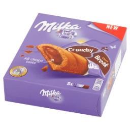 Crunchy Break Ciastka kakaowe z nadzieniem orzechowym i czekoladą mleczną 130 g