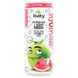 Woda kokosowa z sokiem z arbuza gazowana