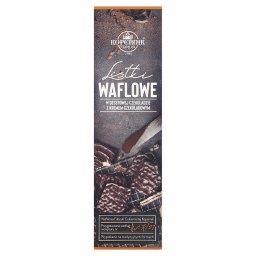 Listki waflowe w deserowej czekoladzie z kremem czekoladowym