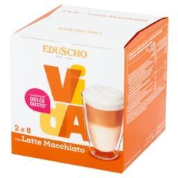 Vida Latte Macchiato Kawa mielona w kapsułkach (8 x 8 g) i mleko w kapsułkach (8 x 17 g)