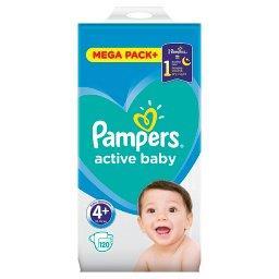 Active Baby Rozmiar 4+, 120 pieluszek, 10-15 kg