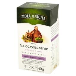 Zioła Mnicha Na oczyszczanie Suplement diety Herbatka ziołowa 40 g (20 torebek)