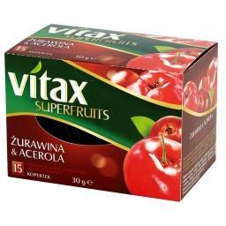 Superfruits Żurawina i Acerola Herbata ziołowo-owocowa 30 g (15 kopertek)
