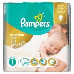 Premium Care rozmiar 1 (Newborn), 2-5kg, 88 pieluszek