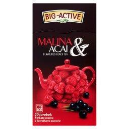 Malina & Acai Herbata czarna z kawałkami owoców 40 g (20 torebek)