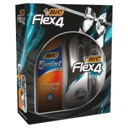 Flex 4 Maszynka do golenia + Pianka do golenia 250 ml