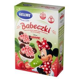 Minnie Babeczki o smaku czekoladowym z kremem truska...