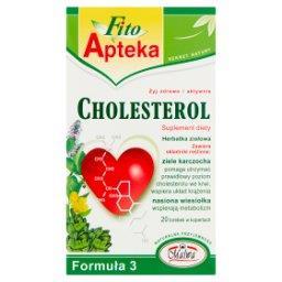 Formuła 3 Cholesterol Suplement diety Herbatka ziołowa 40 g (20 torebek)