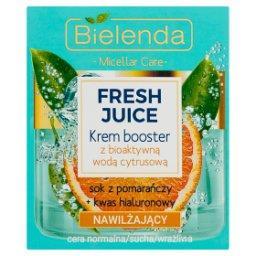 Fresh Juice Krem booster z bioaktywną wodą cytrusową nawilżający