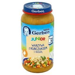 Junior Warzywa z kurczakiem i kaszą po 12 miesiącu
