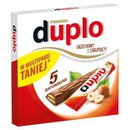 Wafel z orzechowym nadzieniem pokryty mleczną czekoladą  (5 sztuk)