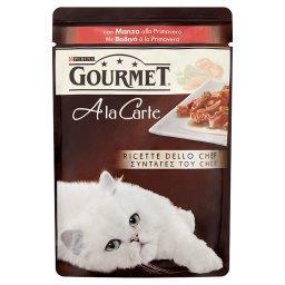 A la Carte Z wołowiną marchewką pomidorem i cukinią Karma dla dorosłych kotów
