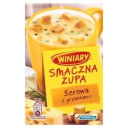 Smaczna zupa Serowa z grzankami