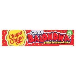 Guma balonowa o smaku truskawkowym  (6 sztuk)