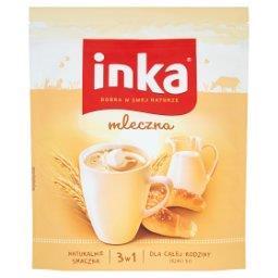 Napój na bazie rozpuszczalnej kawy zbożowej z mlekiem