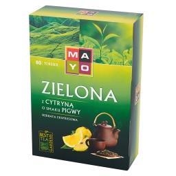 Zielona z cytryną o smaku pigwy Herbata ekspresowa 120 g (80 torebek)