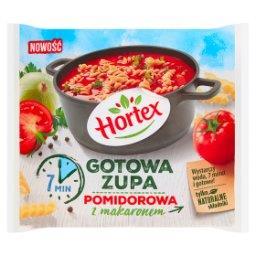 Gotowa zupa pomidorowa z makaronem