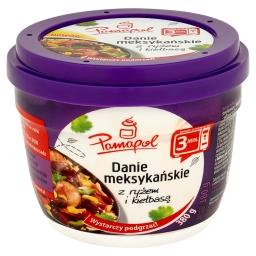 Danie meksykańskie z ryżem i kiełbasą