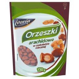 Orzeszki arachidowe w czekoladzie mlecznej